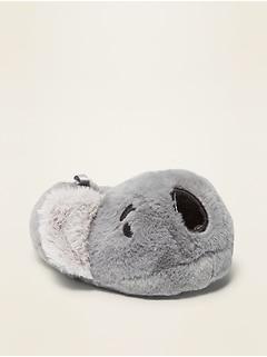 Plush Koala Critter Slippers for Toddler
