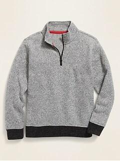 Sweater-Fleece 1/4-Zip Pullover for Boys