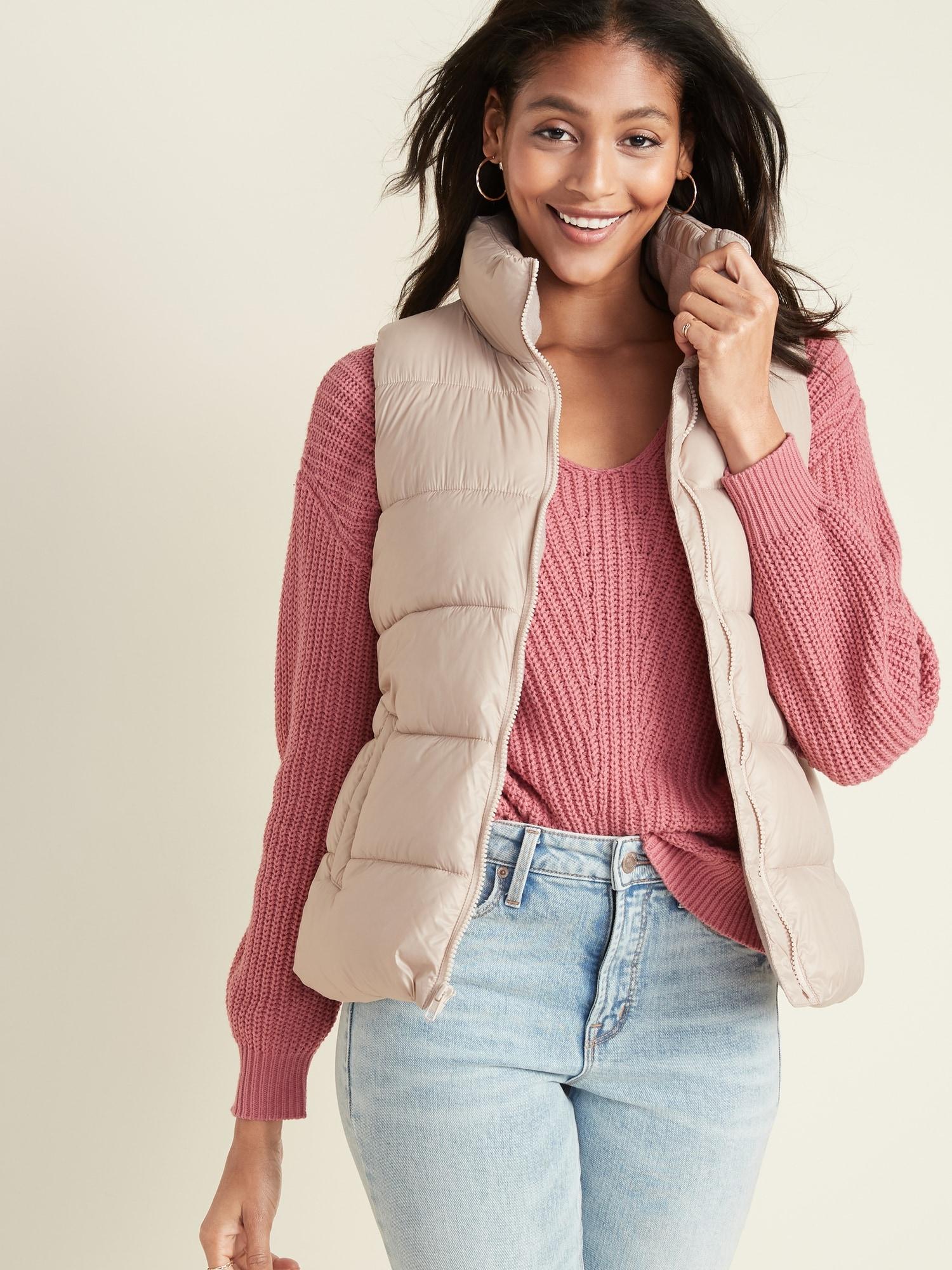 TALL OLD NAVY Womens Frost Free Fur Puffer Winter Jacket Coat REG PETITE SIZES