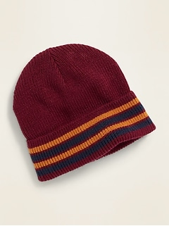 Striped Roll-Cuff Beanie for Toddler