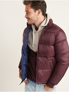 Frost-Free Quilted Puffer Zip Jacket for Men