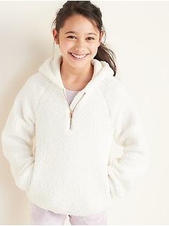 1/4-Zip Sherpa Hoodie for Girls