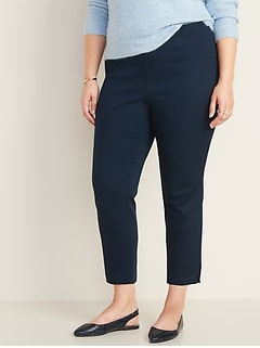 High-Waisted Plus-Size Pull-On Pants