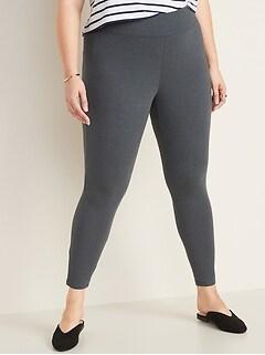 High-Rise Plus-Size Jersey Leggings