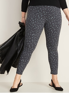 High-Rise Plus-Size Jersey Leggings