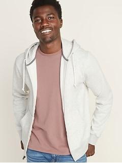 Zip-Front Fleece Hoodie for Men