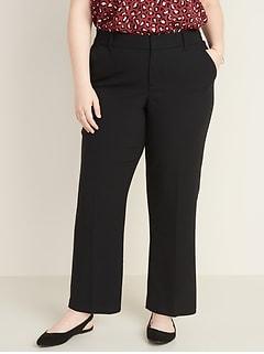 Pantalon étroit et évasé à taille moyenne avec poches Secret amincissant, taillePlus