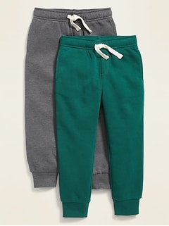 Functional-Drawstring Joggers 2-Pack for Toddler Boys
