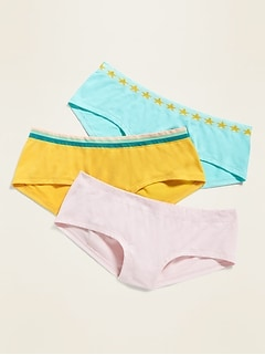Seamless Hipster Underwear 3-Pack for Girls