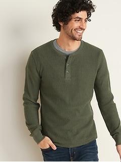 Henley en tricot isotherme épais  Built-In Flex pour homme