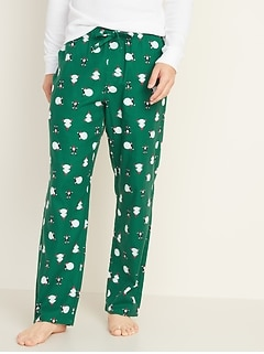 Patterned Flannel Pajama Pants for Men