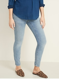 Maternity Premium Full-Panel Rockstar Super Skinny Jeans