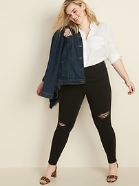 High-Waisted Secret-Slim Pockets Plus-Size Rockstar Super Skinny Jeans
