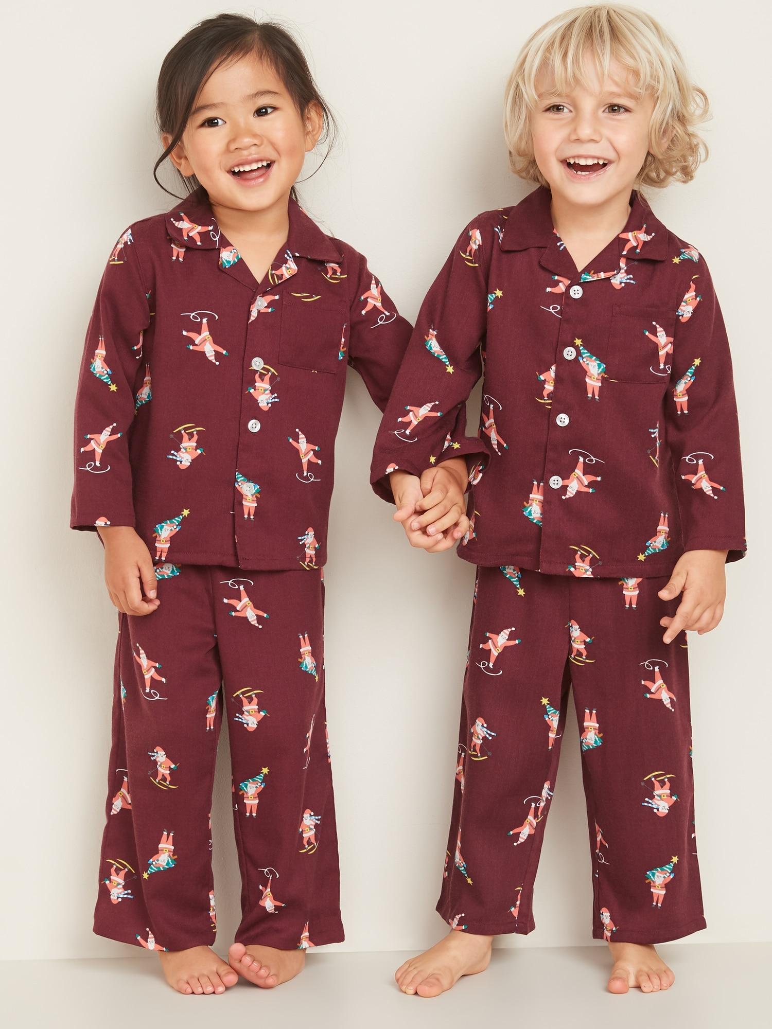 Baby Gap Toddler 3 Years Girls Red Winter Heart Snowman Cotton Pajama Set