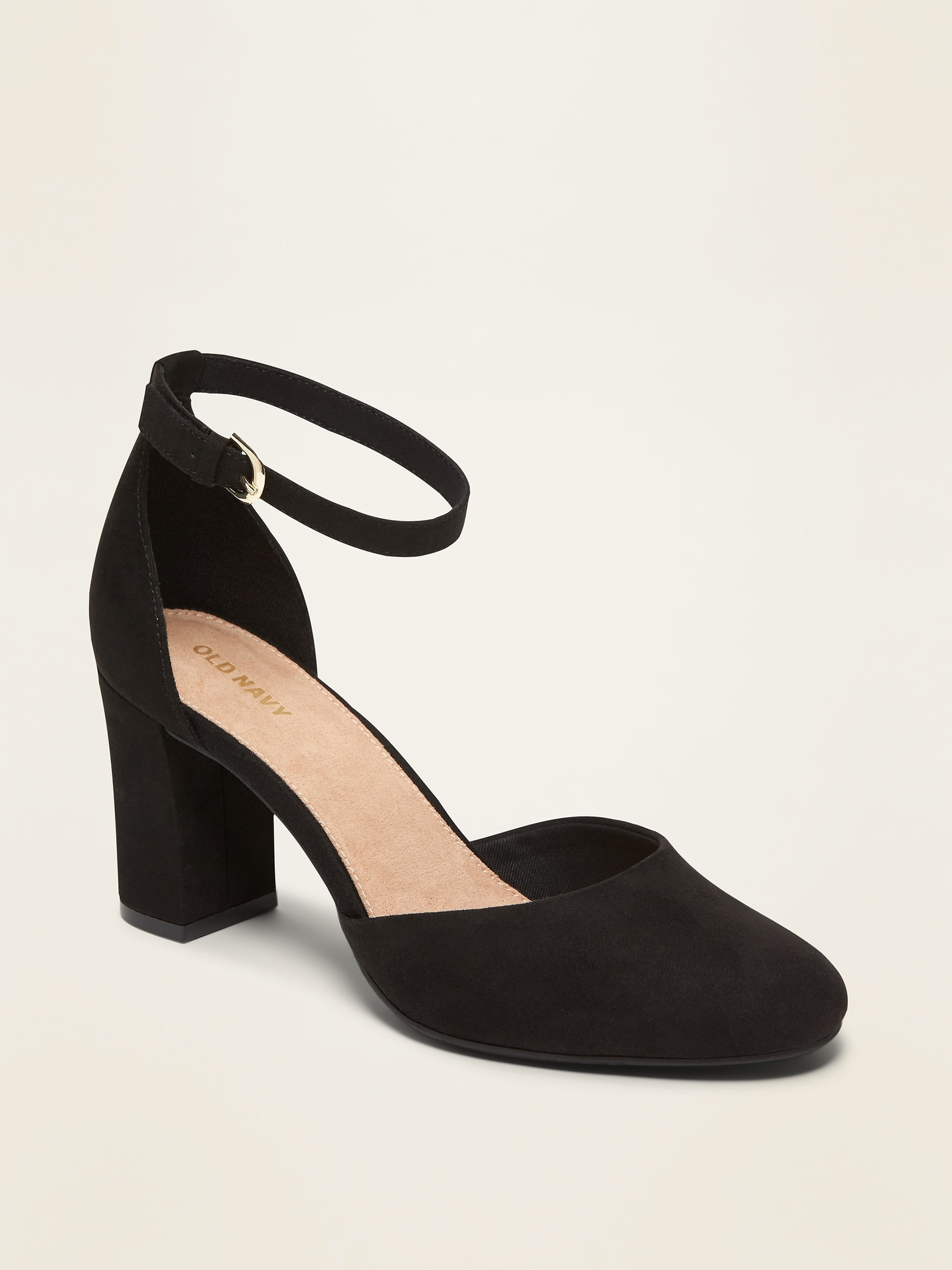 Faux Suede D'orsay Block Heel Pumps For Women by Old Navy
