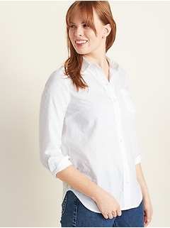 Classic Textured Shirt for Women