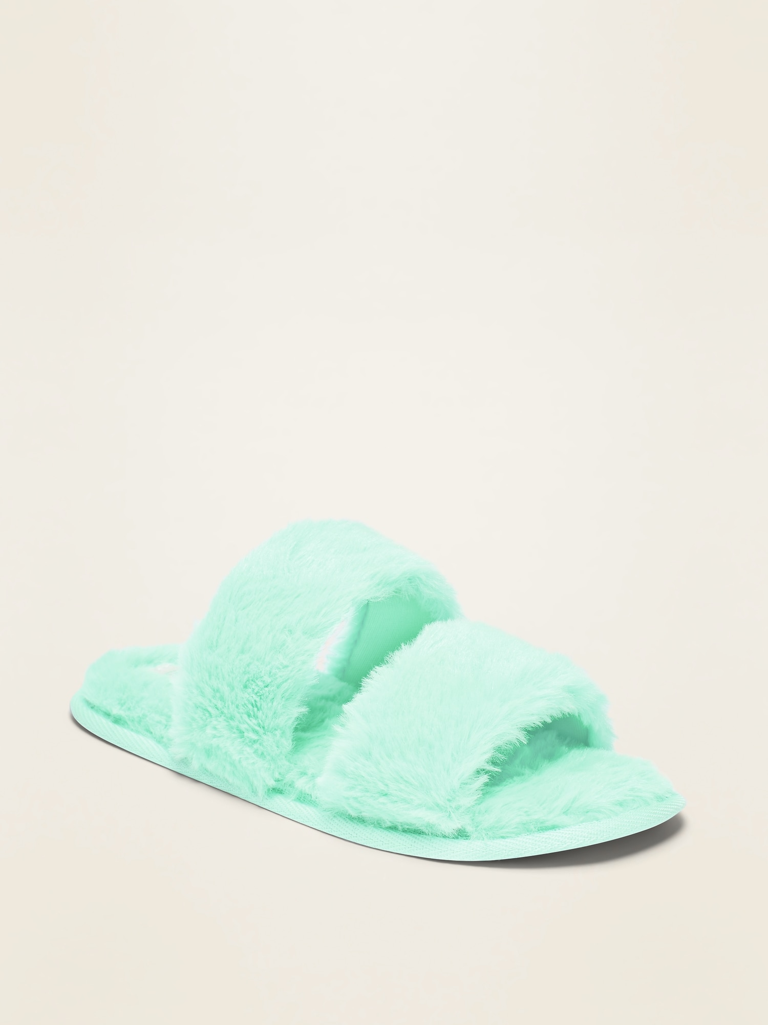 Faux Fur Double Strap Slippers For Girls by Old Navy