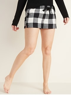 Flannel Boxers for Women - 2.5-inch inseam