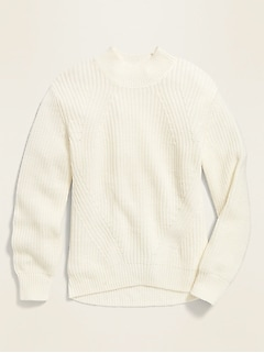 Mock-Neck Sweater for Girls