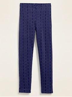 Printed Built-In Tough Full-Length Leggings for Girls