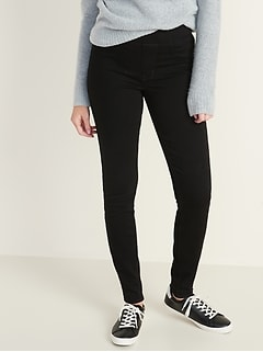 High-Waisted Built-In Warm Rockstar Jeggings for Women
