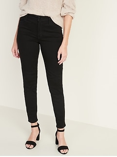 High-Waisted Built-In Warm Super Skinny Rockstar Jeans for Women