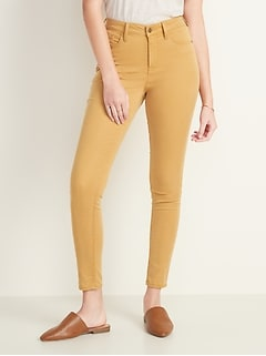 High-Waisted Sateen Rockstar Super Skinny Jeans for Women