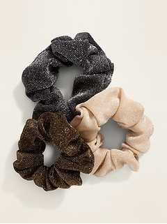 Scrunchie Hair-Tie 3-Pack for Women