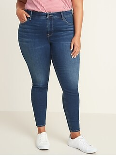 High-Waisted Secret-Slim Pockets + Waistband Built-In Warm Rockstar Plus-Size Jeans