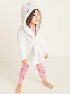 Faux-Fur Unicorn Hooded Robe for Toddler & Baby