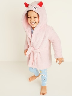 Faux-Fur Cat Hooded Robe for Toddler & Baby
