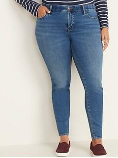 High-Waisted Secret-Slim Pockets + Waistband Built-In Warm Rockstar Plus-Size Jeans