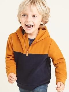 Micro Performance Fleece 1/4-Zip Hoodie for Toddler Boys
