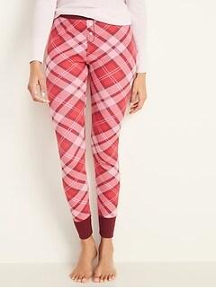 Thermal-Knit Pajama Pants for Women