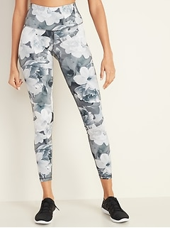 High-Rise Floral Elevate 7/8-Length Compression Leggings for Women