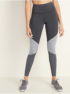 High-Waisted Elevate Color-Blocked Compression Leggings for Women