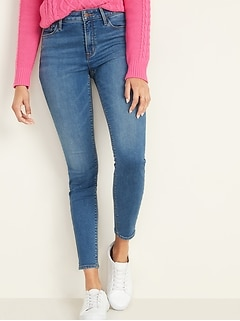 High-Waisted Built-In Warm Rockstar Super Skinny Jeans for Women