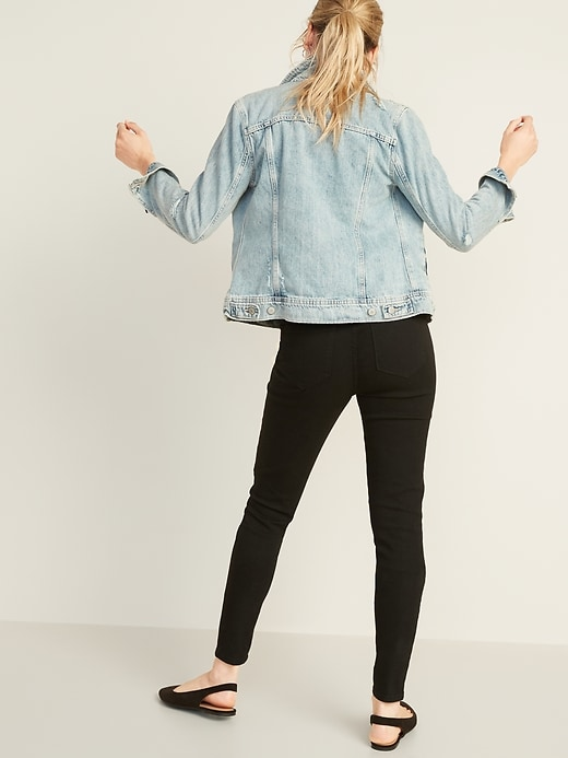 Super Skinny Black Pull-On Jeggings For Women