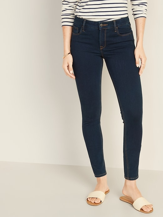 Mid-Rise 24/7 Sculpt Rockstar Super Skinny Jeans For Women