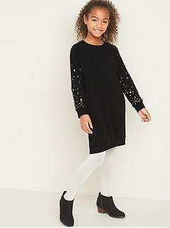 Embellished Graphic Sweatshirt Dress for Girls