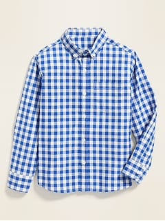Patterned Built-In Flex Classic Shirt for Boys