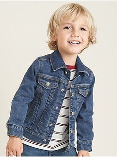 Built-In Flex Jean Jacket for Toddler Boys