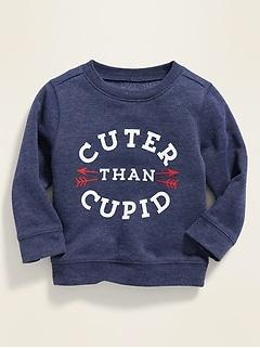 Valentine-Graphic Crew-Neck Sweatshirt for Baby