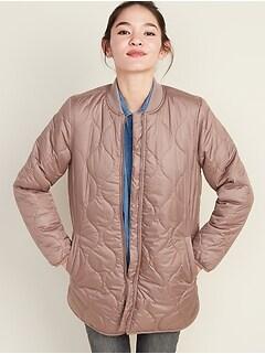 Veste hydrorésistante matelassée doublée en sherpa pour femme