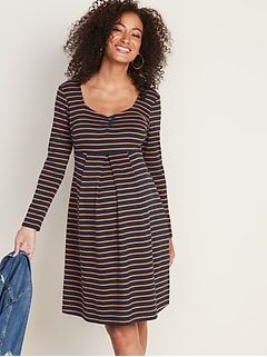 Maternity Crepe Fit & Flare Dress