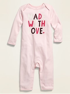 Valentine's Day Graphic One-Piece for Baby