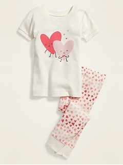 Sweetheart Graphic Pajama Set for Toddler Girls & Baby