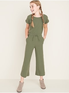 Rib-Knit Wide-Leg Jumpsuit for Girls