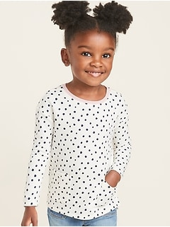 French-Terry Pocket Sweatshirt for Toddler Girls