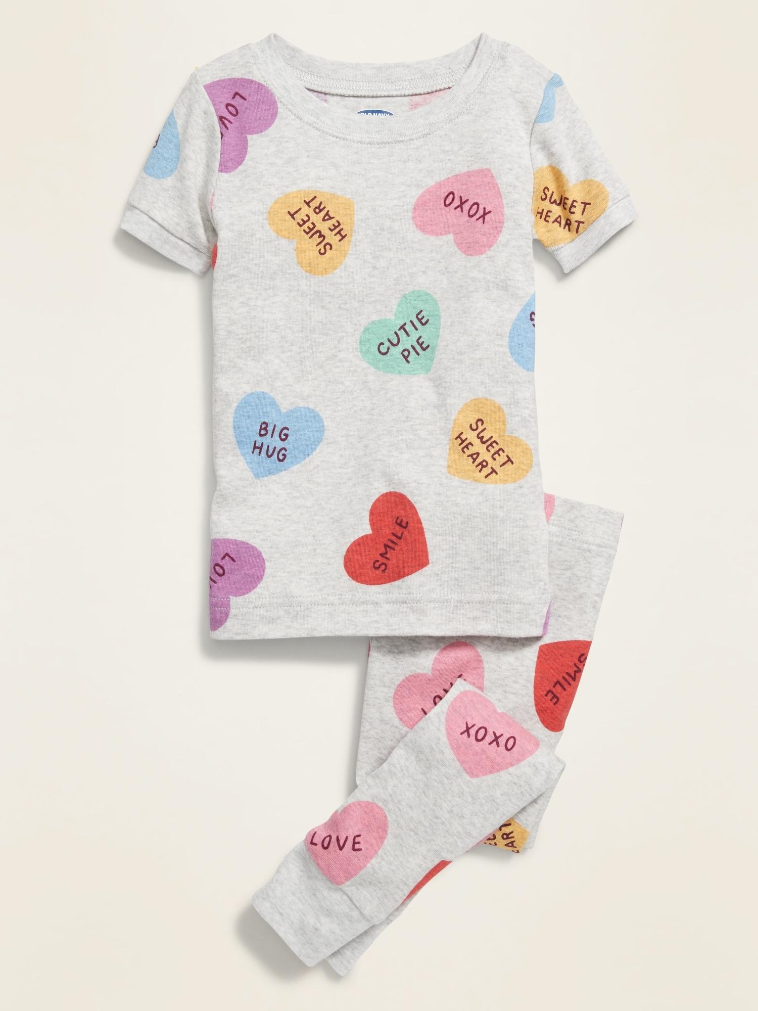 """Candy-baby Toddler Kids girls Clothes Pajamas Sleepwear set /""""banana/"""" 12M-11T"""